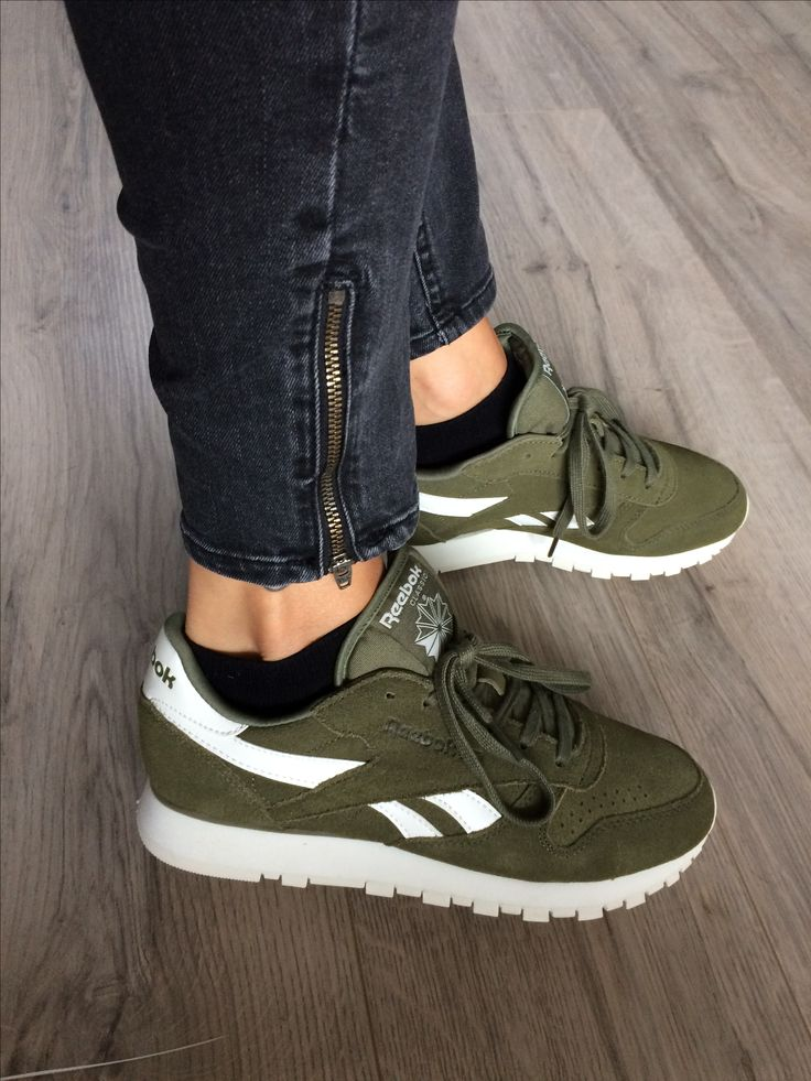 newest 5994d 7ecb4 reebok classic leather kaki femme
