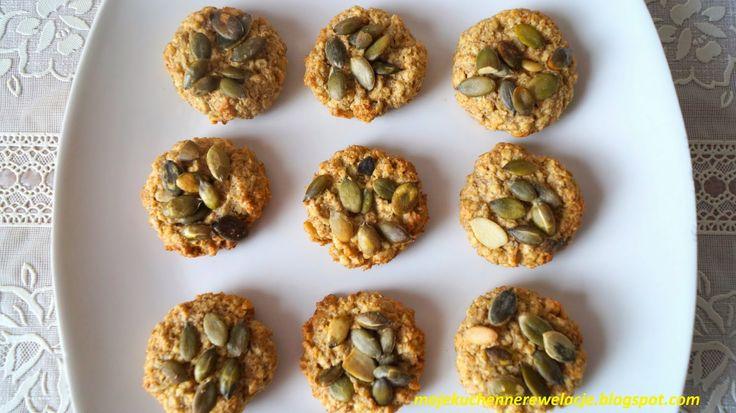 Moje                                                                       Kuchenne Rewelacje  : Ciasteczka owsiane z pestkami dyni i słonecznikiem...