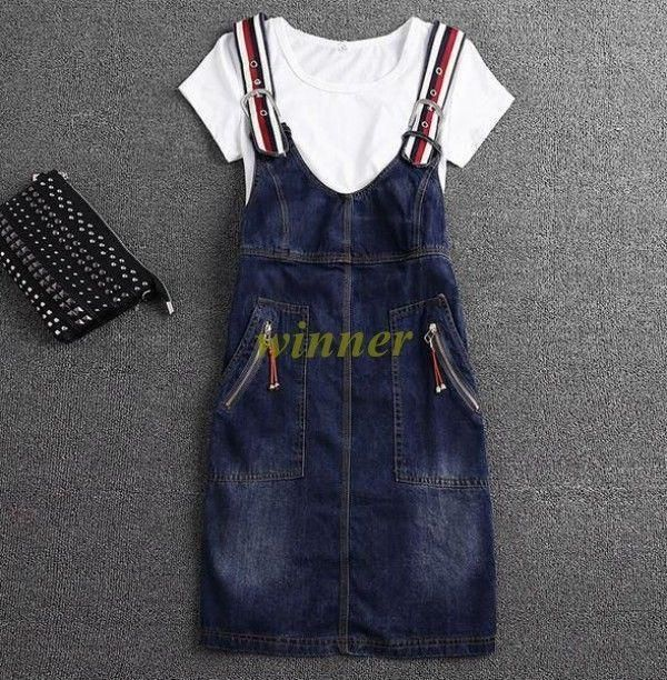 Womens Denim Shirt Dress With Pockets Sleeveless Casual Midi Dress Sundress#