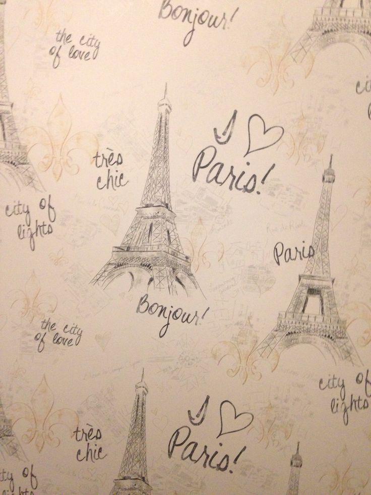 Paris wallpaper nish bedroom pinterest paris for Paris wallpaper for bedroom