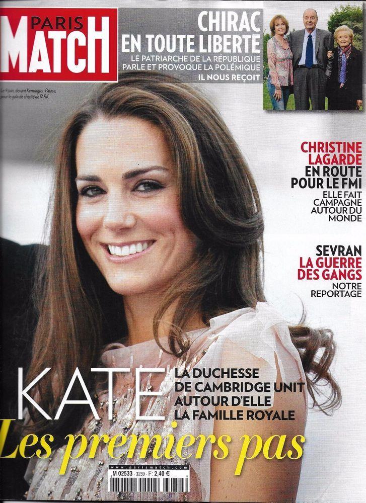 Paris Match magazine Kate Middleton Christine LaGarde Chaz Bono Jacques Chirac