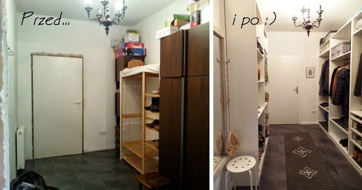 Garderoba przed i po :)