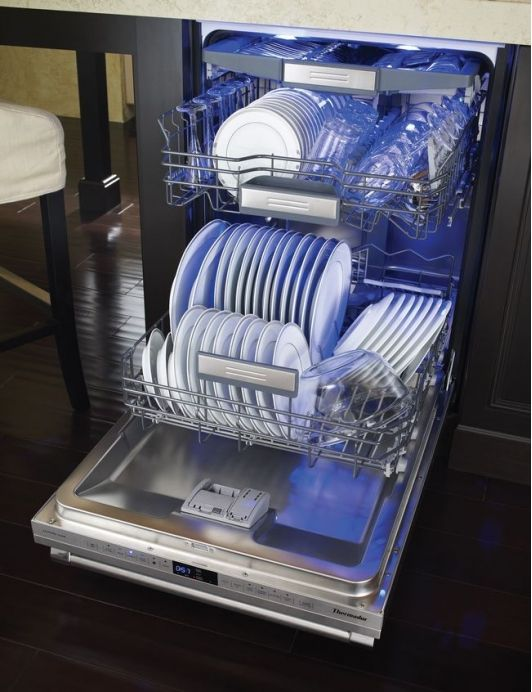 The perfect dishwasher! utensil drawer on the top :-) High Tech Dishwasher - Home and Garden Design Idea's