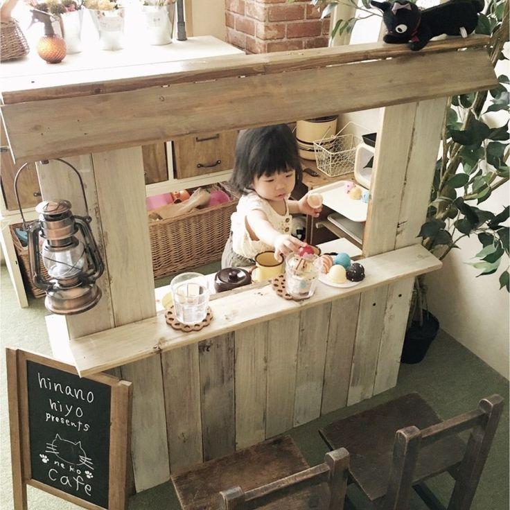 子供部屋のままごとカウンターキッチンをDIY LIMIA (リミア)