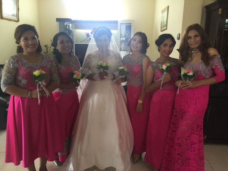 Almy & Apin Wedding Day  9th February 2017 #bride #bridesmaid