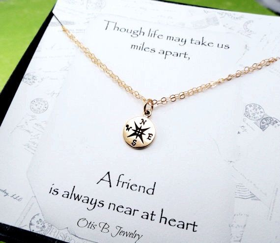 Compass Charm BRACELET friendship bracelet GOLD or by BriguysGirls