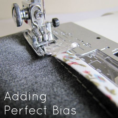 Adding bias tape (the trick to making sure your second row of