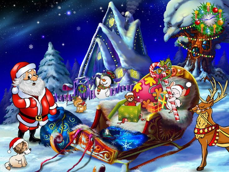 holiday screensavers | Christmas Entourage - Free Christmas Screensavers