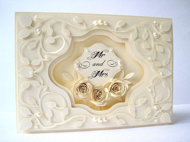 Monochromatic Wedding Card