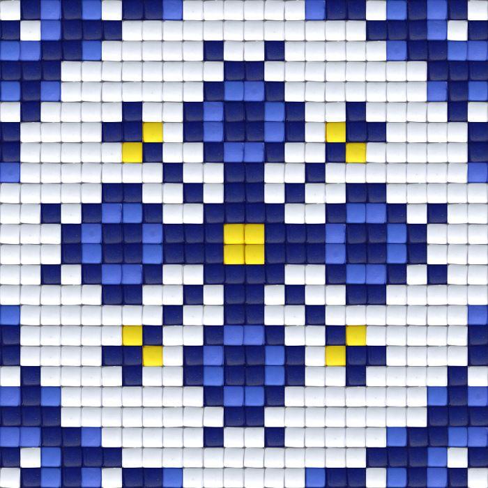 Delfstblauwe bloem | Pixel Party