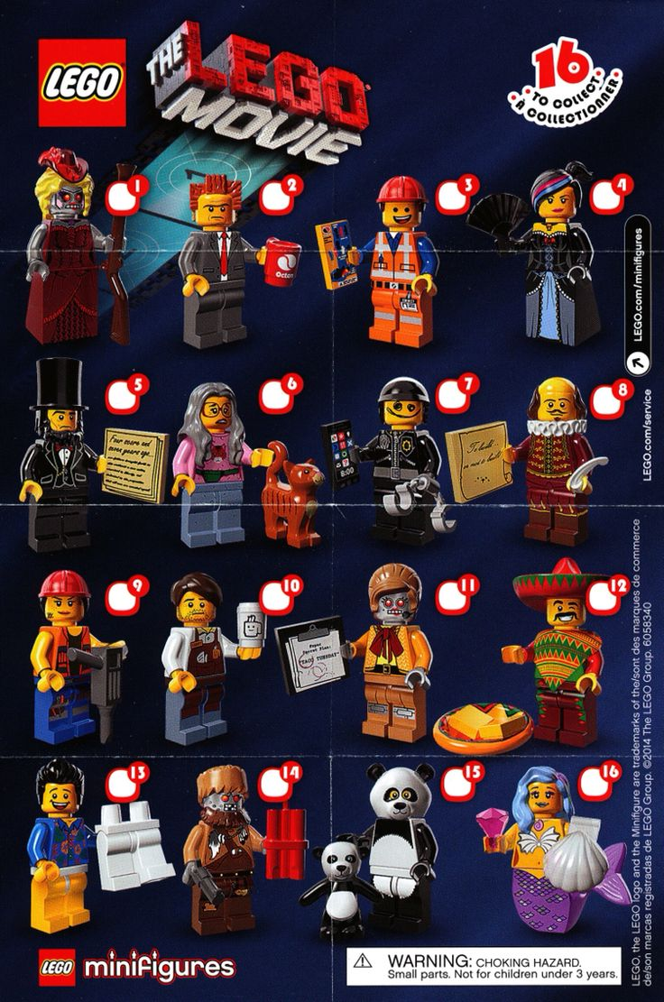 Lego Minifigs Lego Movie