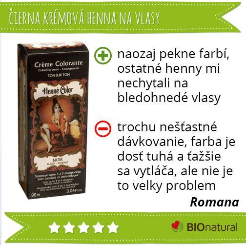 Hodnotenie krémovej čiernej henny http://www.bionatural.sk/p/noir-henna-creme-90-ml-cierna?utm_campaign=hodnotenie&utm_medium=pin&utm_source=pinterest&utm_content=&utm_term=noir_kremova