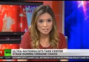 Major Applause for Her Integrity Under What Must Be Enormous Pressure; A Russia Today anchor broke through the Iron Curtain. Liz Wahl, a (former) Washington, D.C. correspondent for the state-owned television station, quit live on-air Wednesday because she does not agree with the network's backing of Russian President Vladimir Putin's military intervention in Ukraine's Crimea region.