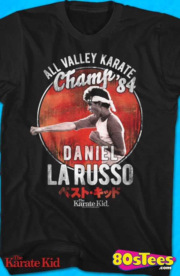 57efe18d1 Daniel LaRusso Karate Kid Geeks: This men's shirt is designed with great  art and illustration of Daniel from the 1984 Movie, The Karate Kid.