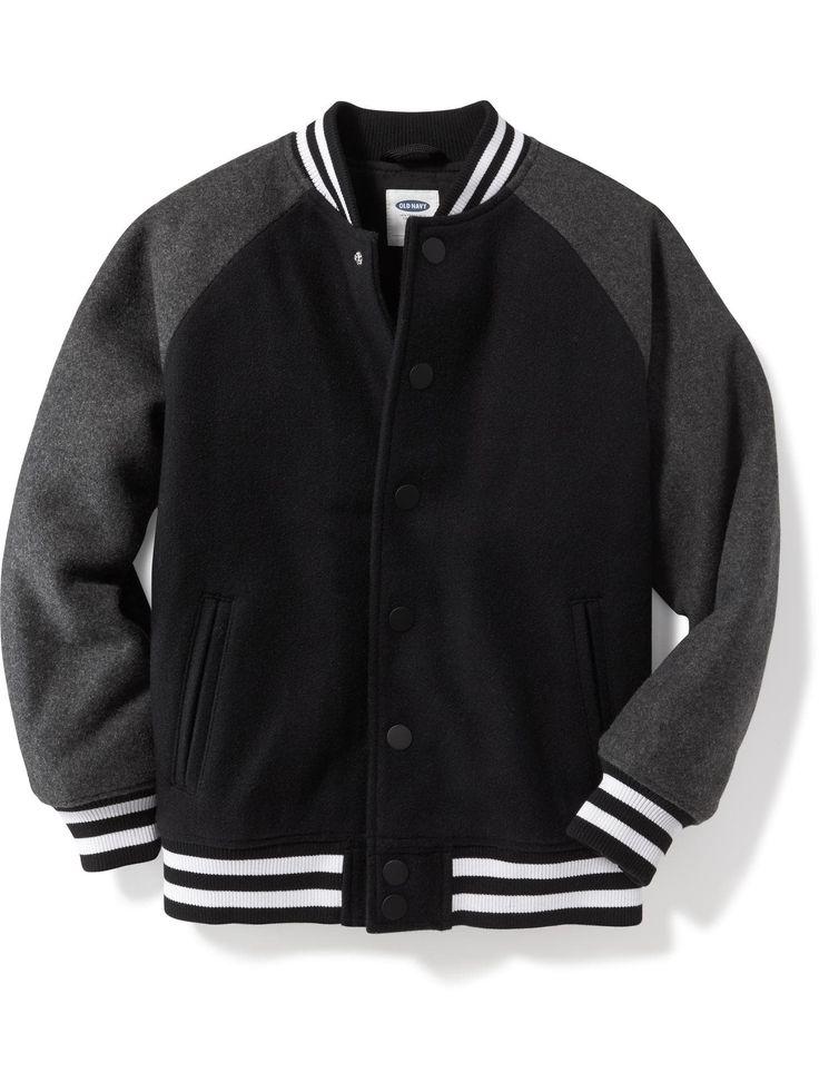 Old Navy | Wool-Blend Bomber Jacket