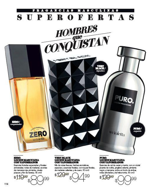 Perfumes  Very Black ,Zero,Puro.