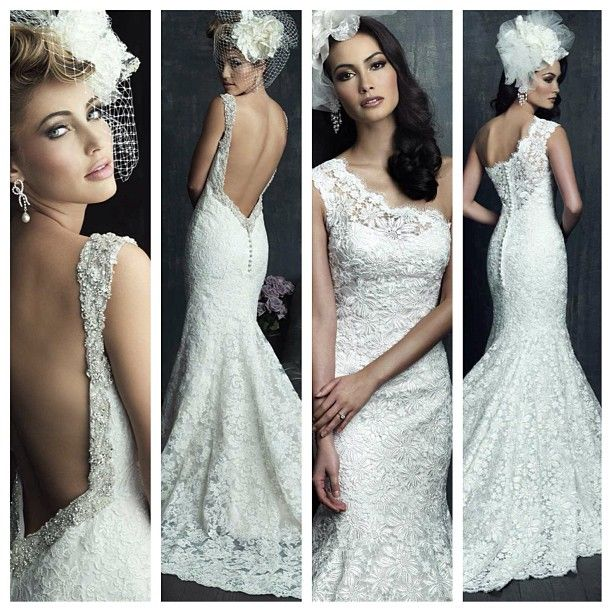Wedding Dress Gown From The Allure Couture Spring 2014 Bridal Collection Lace