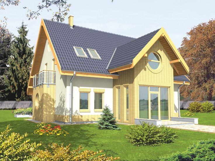 Projekt domu AC Poziomka - DOM AE2-15 - gotowy projekt domu