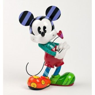 Mickey Mouse Figurine Heart. Disney by Romero Britto. Large.