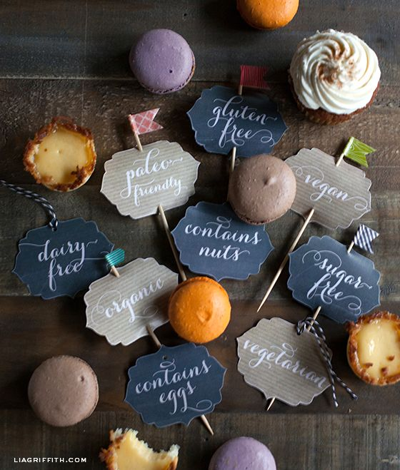 Party Tags for Your Food Sensitive Guests