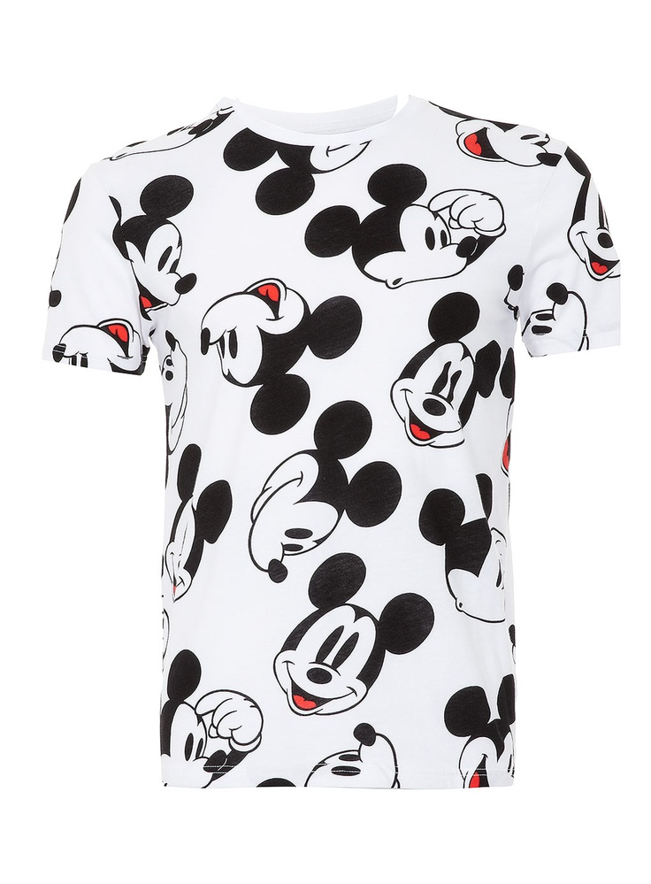 grey mickey mouse print t shirt print t shirts t shirts vests men. Black Bedroom Furniture Sets. Home Design Ideas