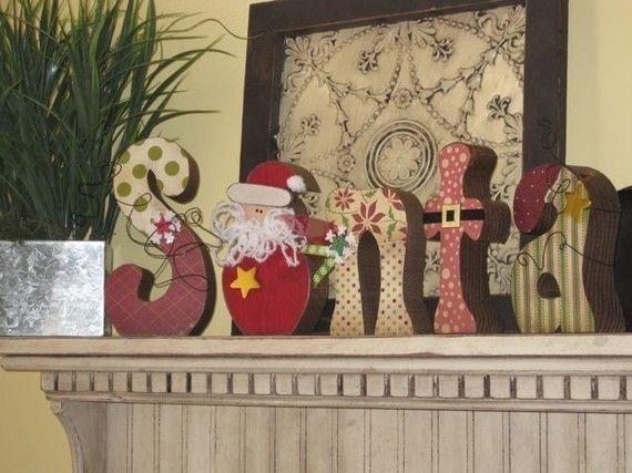 Santa Letters Winter Scrapbook Paper NEW by allysatticcrafts