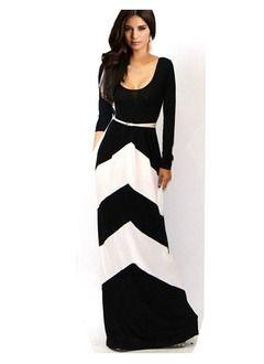 Maxi kleid mit langen armeln