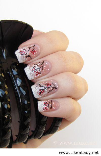 Ho Ho Ho Merry Christmas Santa and Snow Flakes Nail Art Pictorial