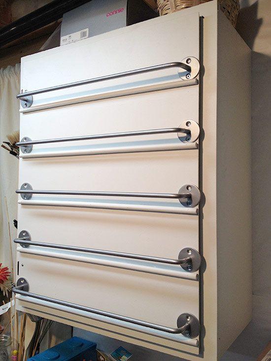 pintar porta do armário para a organização pintura do ofício
