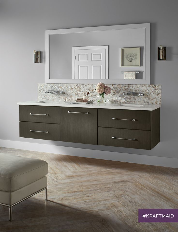 The New Textured And Floating Cabinet Style Can Add A Clean, Contemporary  Element To Your Bathroom Layout.