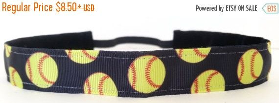 Hey, I found this really awesome Etsy listing at https://www.etsy.com/listing/212736348/sale-softball-headband-black-softball