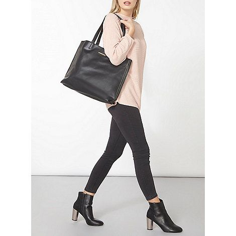 Dorothy Perkins Black stud side shopper bag | Debenhams