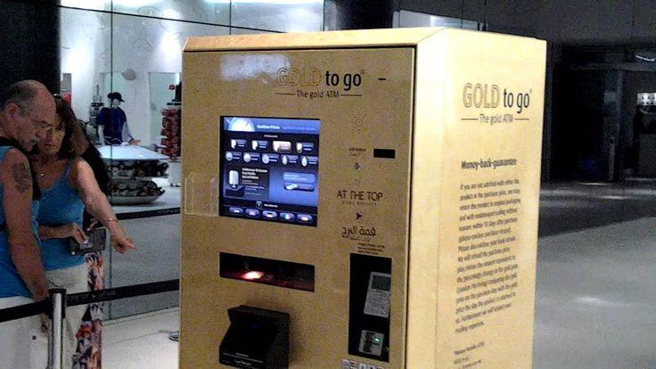 Gold ATM at At The Top Burj Khalifa, Dubai, UAE