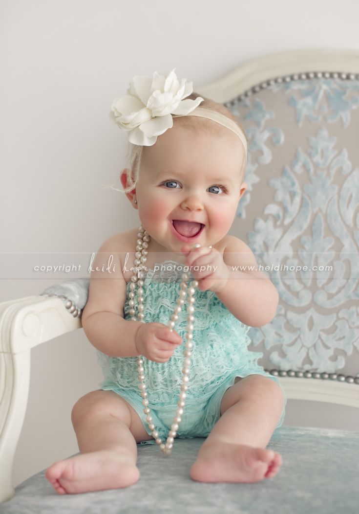 Baby. Flower. Pearls. Lace.