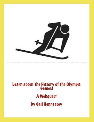 The 2016 Summer Games are coming.Learn about the history of the games which began in ancient Greece, both past and present with this informative webquest. There are 10 questions as well a number of fun facts. Extension activities,too.Can be used before a vacation, for a Friday activity and for an activity if you are studying the ancient Greeks. http://www.teacherspayteachers.com/Product/History-of-the-Olympics-A-WebquestExtension-Activities-1021833 $3