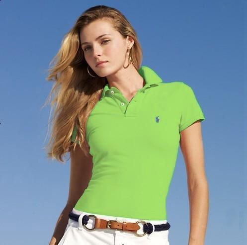 Ralph Lauren Womens Small Pony Short Polo T Shirts Outlet