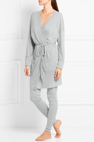 Eres - Futile Tentation Ribbed-knit Cashmere Leggings - Gray - 1