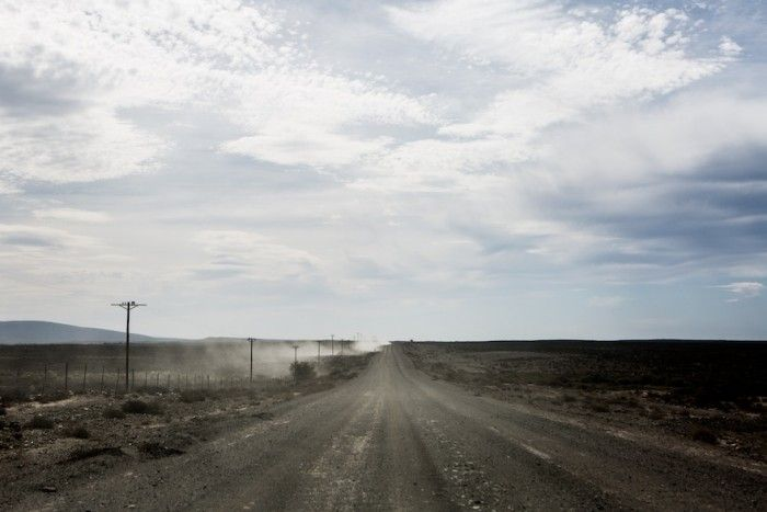 The journey to Afrikaburn involves 180km of dirt road.