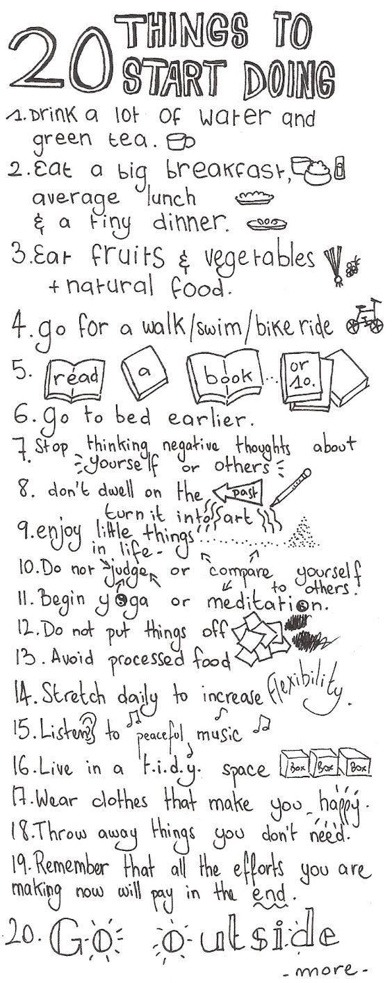 Things To Start Doing