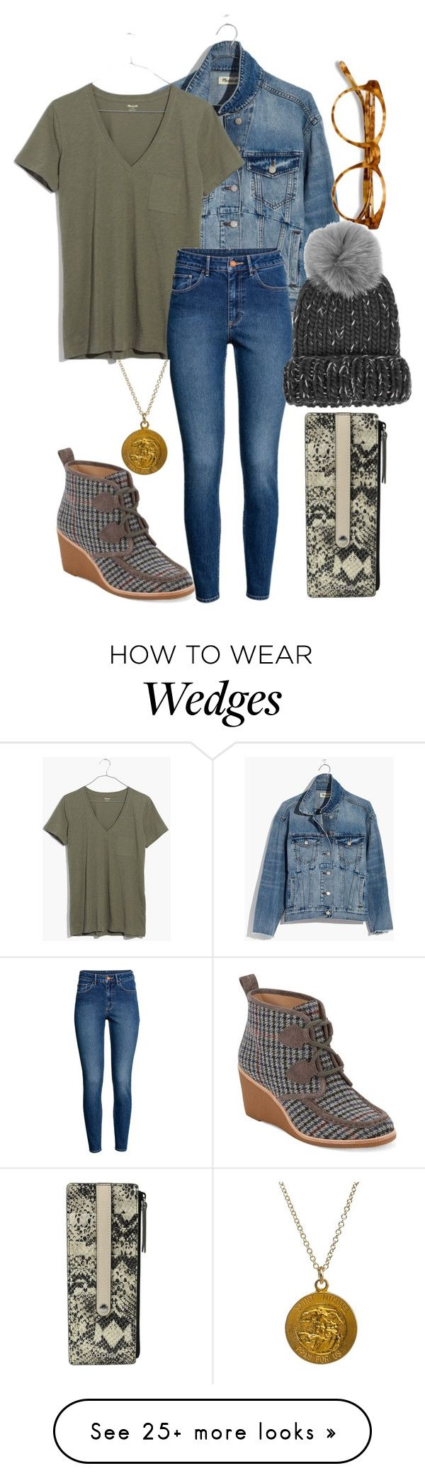 """""""What is this Feeling?"""" by berryco on Polyvore featuring Madewell, EyeBuyDirect.com, H&M, Eugenia Kim, Dogeared, G.H. Bass & Co., Lodis, witch, broadway and musical"""