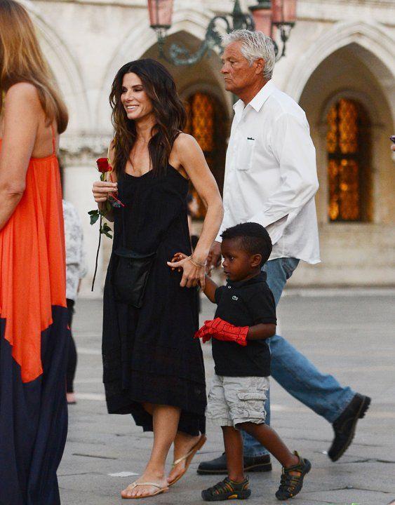Sandra Bullock and son Louis in Venice, Italy | Best ...
