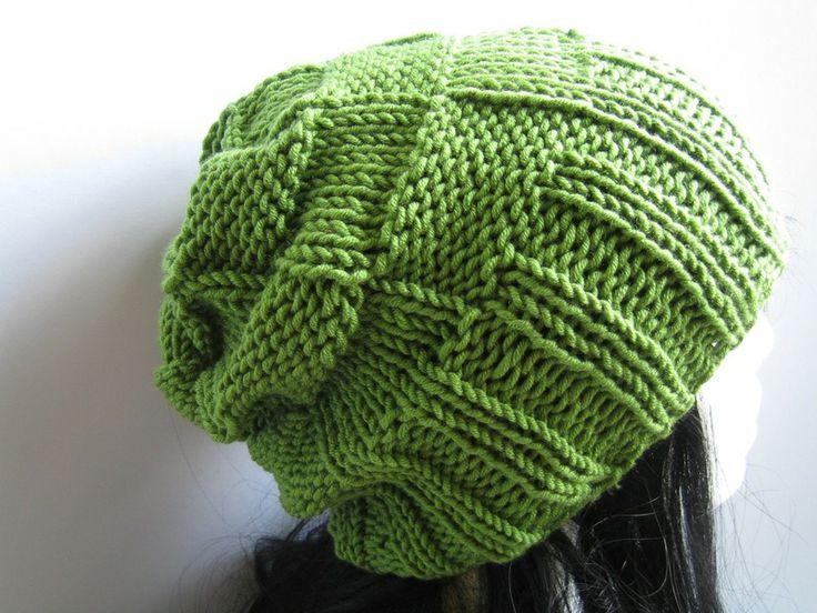Beanie Mütze Männer & Frauen grasgrün von NettiStrick auf DaWanda.com