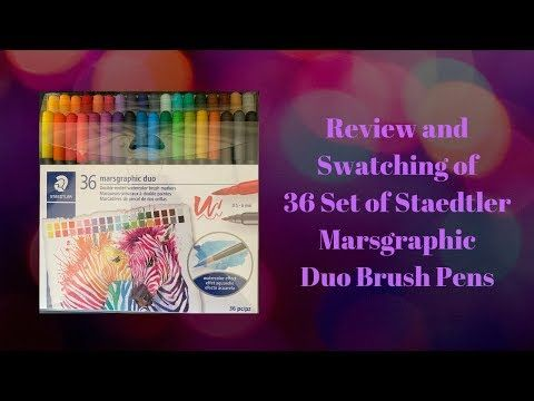 Review And Swatching Of 36 Set Of Staedtler Marsgraphic Duo