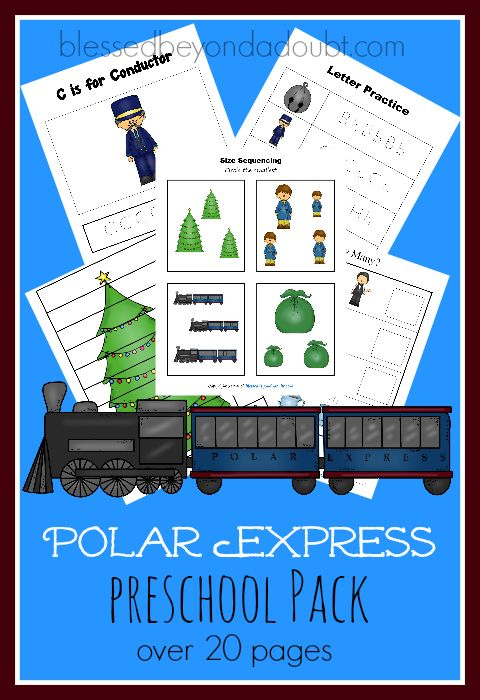 FREE Polar Express Preschool Printables! Super cute!