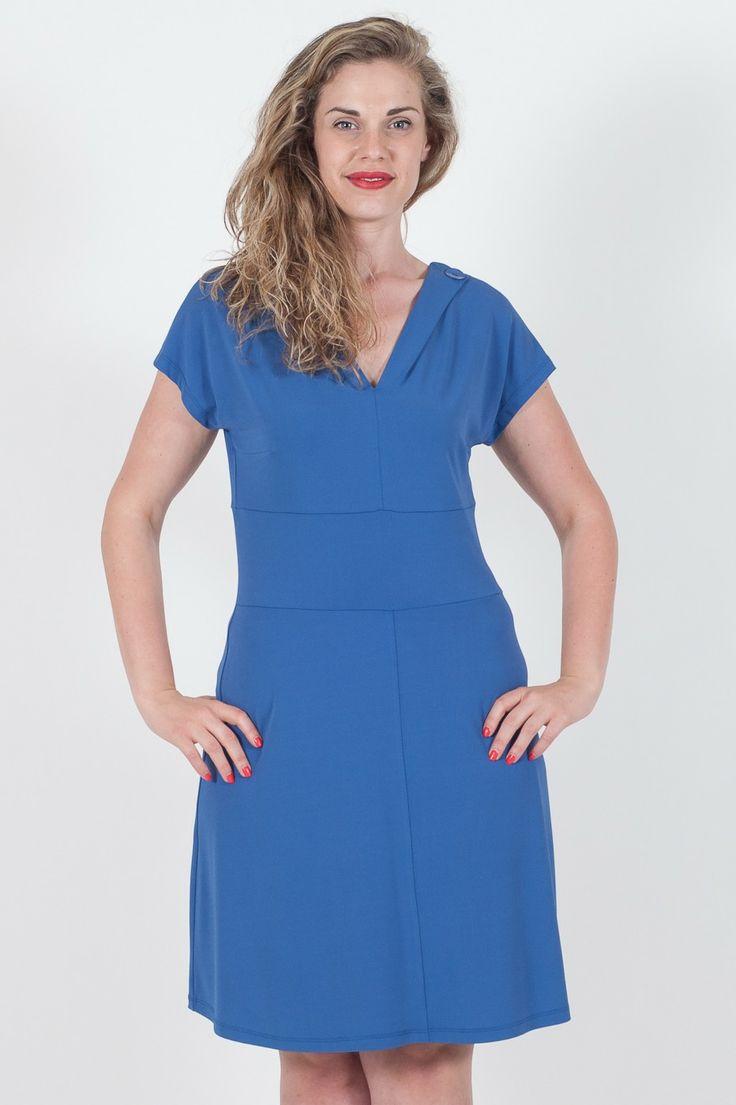 #Abito da #donna Superior #curvy.  - Morbido sul fianco - Tessuto Cadente a vestibilità ottima - 73% Acetato 20% Poliammide  - Made in Italy