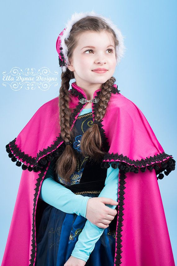Frozen Anna Full length Cape and Hat by EllaDynae on Etsy