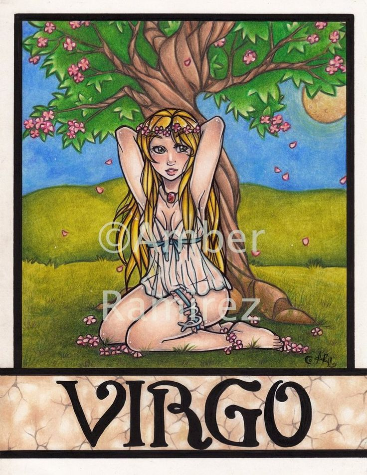 Zodiac Pin up girls: Virgo by Flos-Abysmi