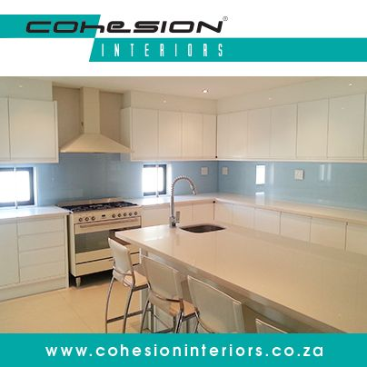 Cohesion Interiors manufacture and coat high quality, value-added glass for use in many residential and commercial applications.   #EVAkote #CohesionInteriors #kitchenideas