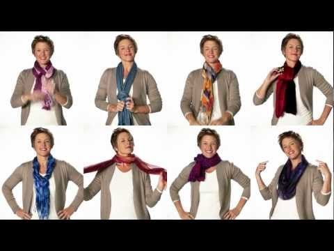 8 Ways to tie a scarf. #video #howto #fashion