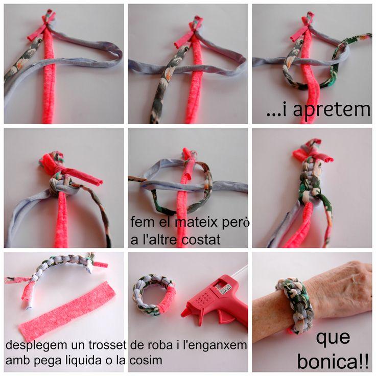 pulseras trapillo, hechas a mano